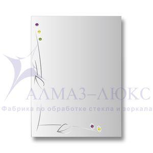 """Зеркало настенное прямоугольное 10с - Д/003 """"Кипр"""""""