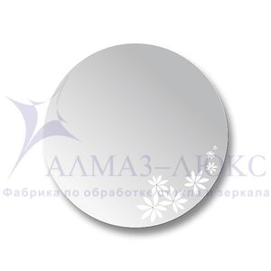 Зеркало настенное круглое Д-008
