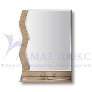 """Зеркало с полкой 10с - Е/003 """"Морское дно-3"""""""