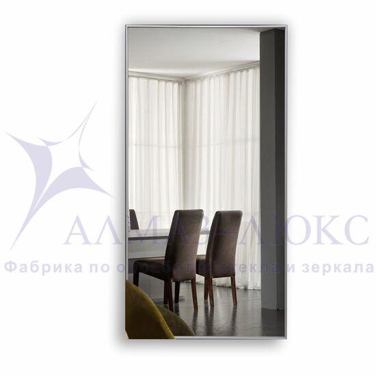 Зеркало прямоугольное в алюминиевой раме M-152 (120х60) в Минске и Беларуси