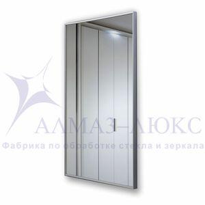 Зеркало прямоугольное в алюминиевой раме M-153
