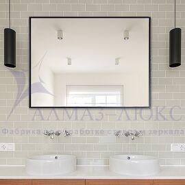 Зеркало прямоугольное в алюминиевой раме M-197 (80х60) в Минске и Беларуси