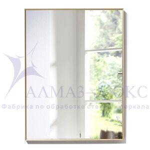 Зеркало прямоугольное в алюминиевой раме M-199 (80х60)