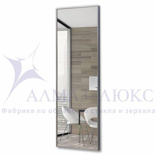 Зеркало прямоугольное в алюминиевой раме M-245 (120х40) в Минске и Беларуси