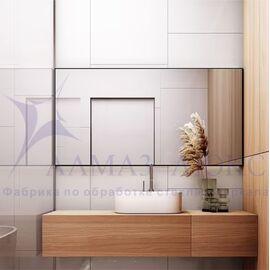 Зеркало прямоугольное в алюминиевой раме M-259 (120х60) в Минске и Беларуси