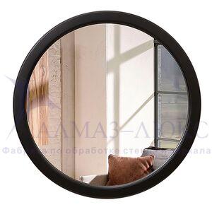 Зеркало круглое в деревянной раме М-250