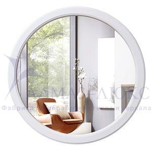 Зеркало круглое в деревянной раме М-251