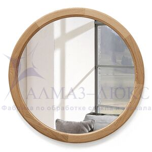 Зеркало круглое в деревянной раме М-300 (D64,4)