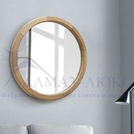 Зеркало круглое в деревянной раме М-300 (D64,4) в Минске и Беларуси