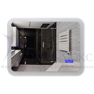Зеркало с подсветкой ЗП-СМТ-28 с блютузом (80х60)
