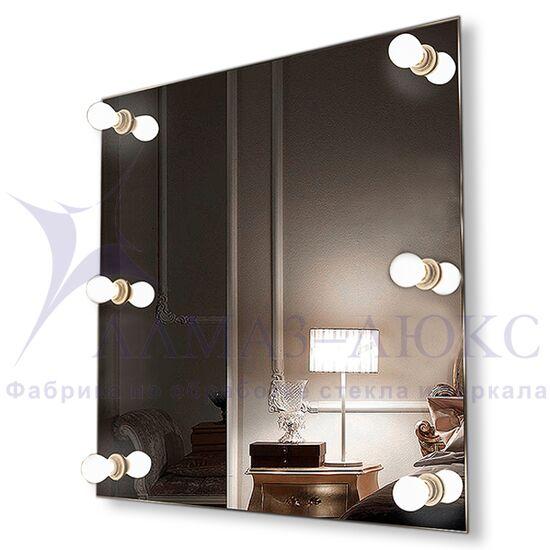 Зеркало с подсветкой гримёрное ЗП-12 (60х60) в Минске и Беларуси