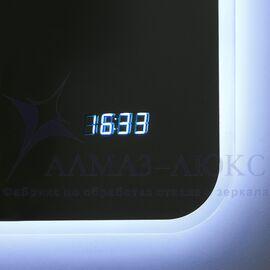Зеркало с подсветкой и часами ЗП-65 в Минске и Беларуси