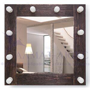 Зеркало с подсветкой гримёрное ЗП-96 (70х70)