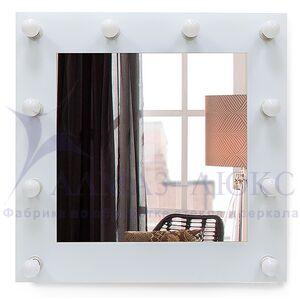 Зеркало с подсветкой гримёрное ЗП-98 (70х70)